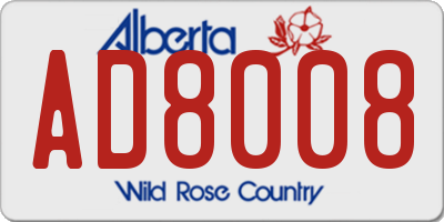 AB license plate AD8008
