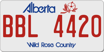AB license plate BBL4420