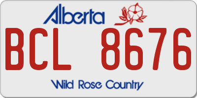 AB license plate BCL8676