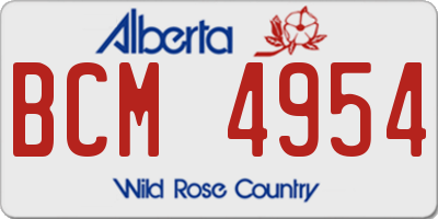 AB license plate BCM4954