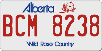 AB license plate BCM8238