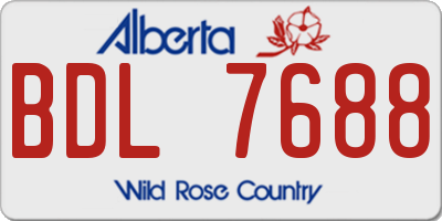 AB license plate BDL7688