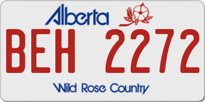 AB license plate BEH2272