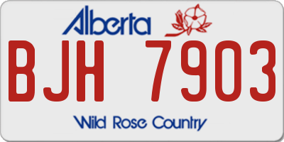 AB license plate BJH7903