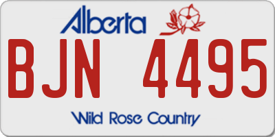 AB license plate BJN4495