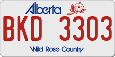 AB license plate BKD3303