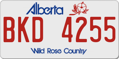 AB license plate BKD4255