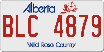 AB license plate BLC4879