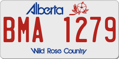 AB license plate BMA1279