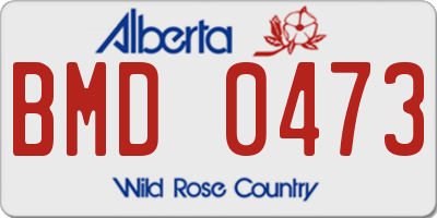 AB license plate BMD0473