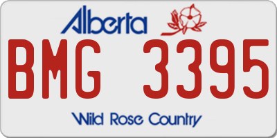 AB license plate BMG3395