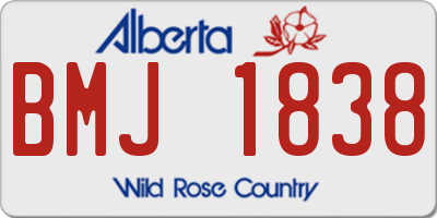 AB license plate BMJ1838