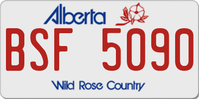 AB license plate BSF5090