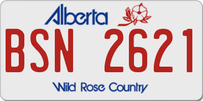 AB license plate BSN2621