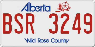 AB license plate BSR3249