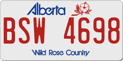 AB license plate BSW4698