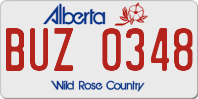 AB license plate BUZ0348