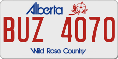 AB license plate BUZ4070