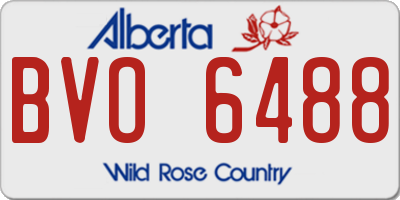 AB license plate BVO6488