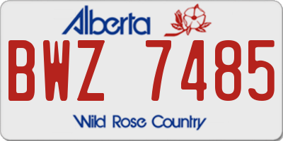 AB license plate BWZ7485