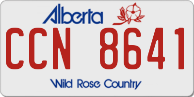 AB license plate CCN8641