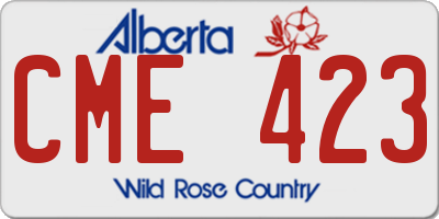AB license plate CME423