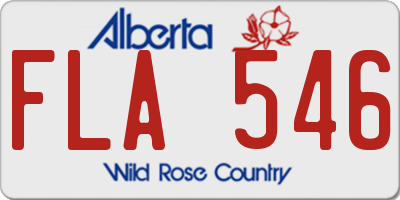 AB license plate FLA546