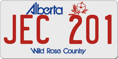 AB license plate JEC201