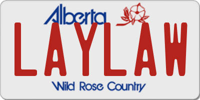 AB license plate LAYLAW