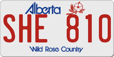 AB license plate SHE810
