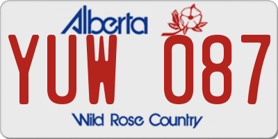AB license plate YUW087