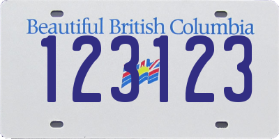 BC license plate 123123