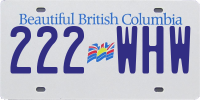 BC license plate 222WHW