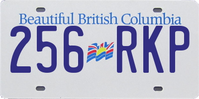 BC license plate 256RKP