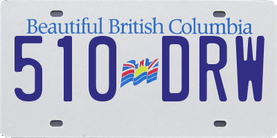 BC license plate 510DRW