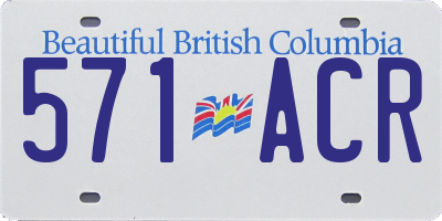 BC license plate 571ACR