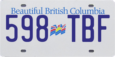 BC license plate 598TBF