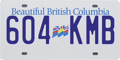 BC license plate 604KMB