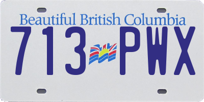 BC license plate 713PWX