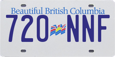 BC license plate 720NNF