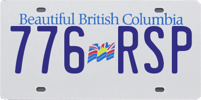 BC license plate 776RSP