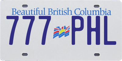 BC license plate 777PHL