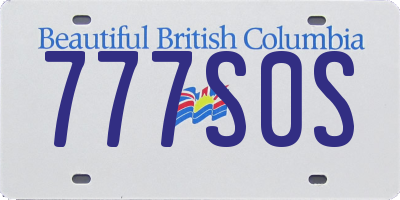 BC license plate 777S0S