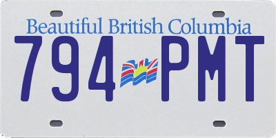 BC license plate 794PMT