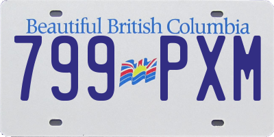 BC license plate 799PXM