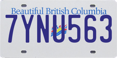 BC license plate 7YNU563