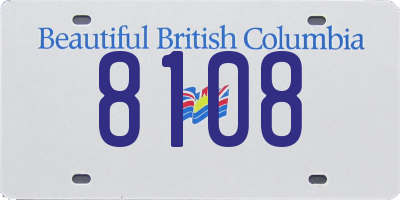 BC license plate 8108