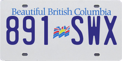 BC license plate 891SWX