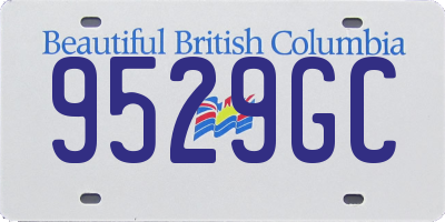 BC license plate 9529GC