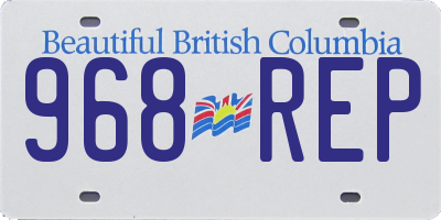 BC license plate 968REP